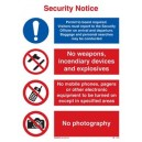 ISPS Security Notice Rigid PVC