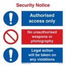 Security Notice Rigid PVC