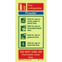 Powder Fire Extinguisher Instructions Vinyl