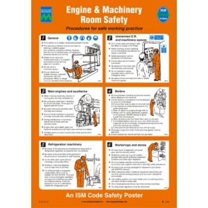 ISM Engine Room Poster Vinyl - Plan B Marine Safety