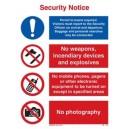 ISPS Security Notice Rigid PVC